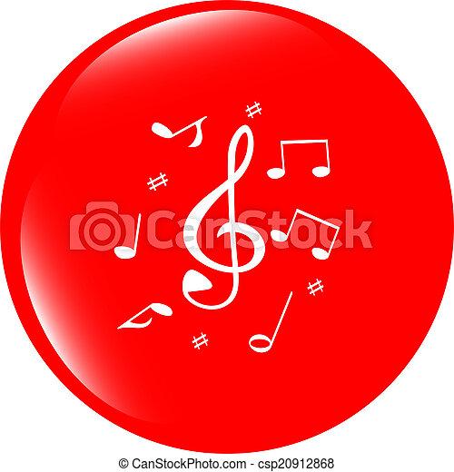 music round glossy web icon on white background - csp20912868