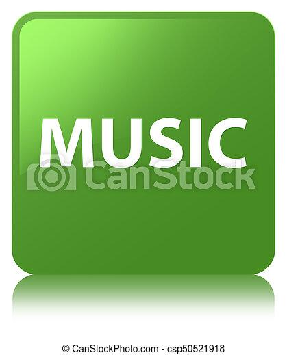 Music soft green square button - csp50521918