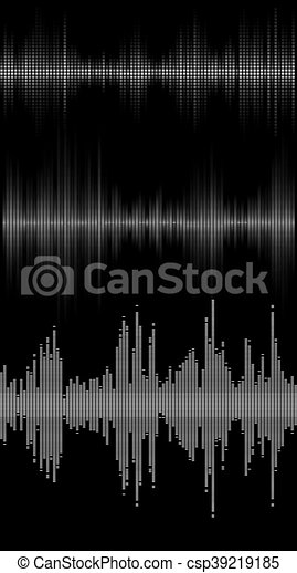 music sound waves - csp39219185