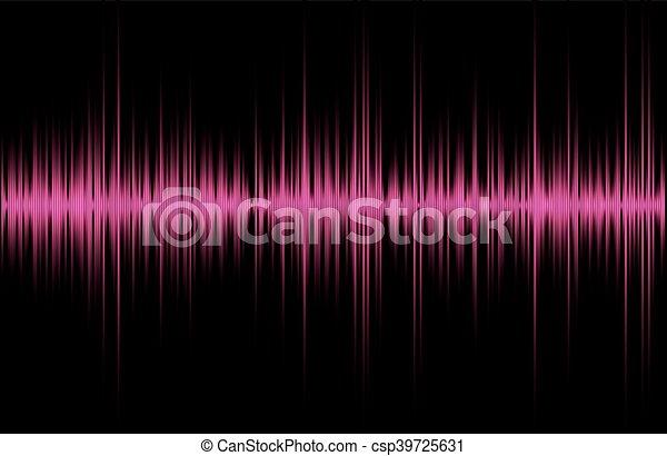 music sound waves - csp39725631