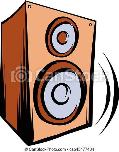 music speaker iicon cartoon music speaker iicon in cartoon rh canstockphoto com speaker vector free download speaker vector psd
