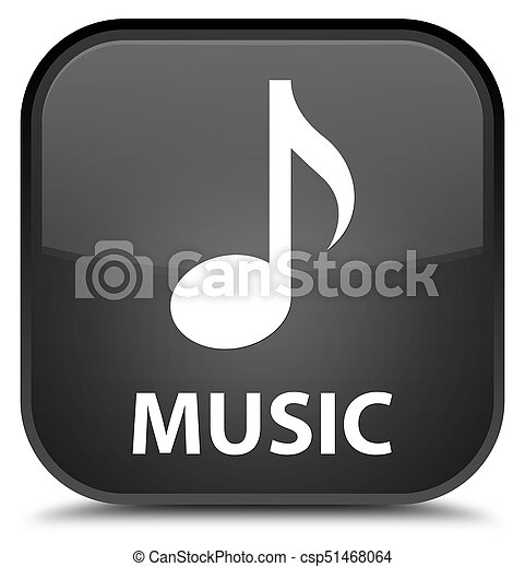 Music special black square button - csp51468064