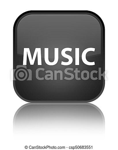 Music special black square button - csp50683551