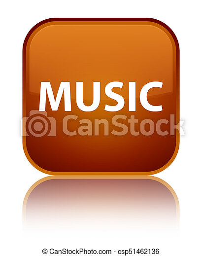 Music special brown square button - csp51462136