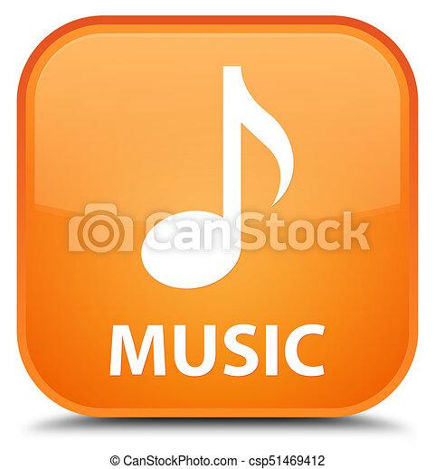 Music special orange square button - csp51469412