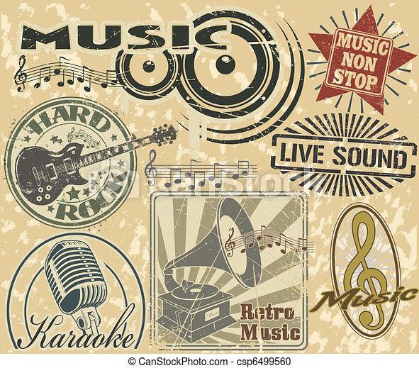 music stamps set - csp6499560