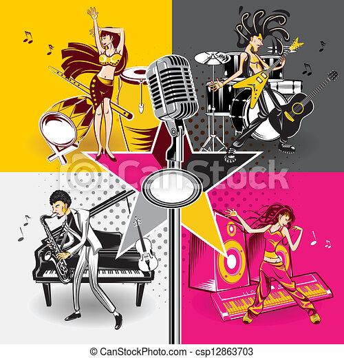 Music Star Idols - csp12863703