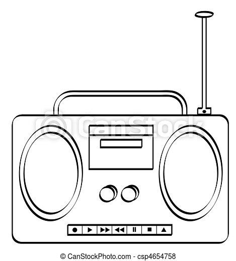 stereo or radio boombox