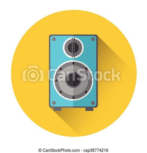 speakers clipart. music studio audio monitor speakers column icon - csp38774216 clipart t