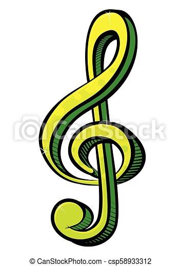 Music symbol - csp58933312