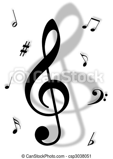 Music Symbols Signs And Notes To Represent Musical World Clipart