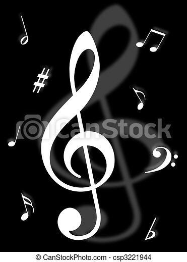 Music Symbols Signs And Notes To Represent Musical World Drawing