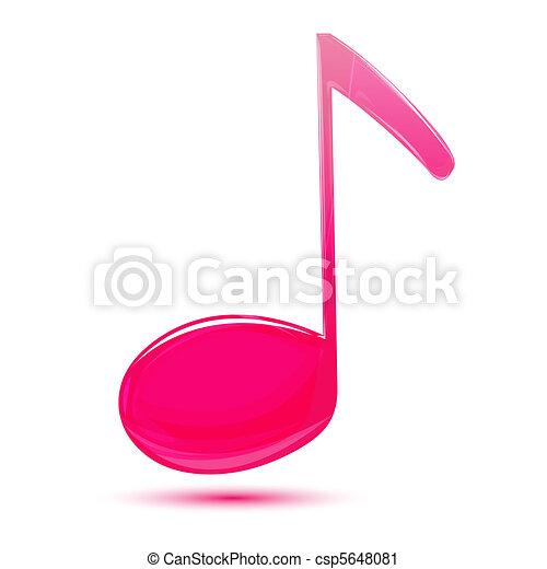 music text - csp5648081
