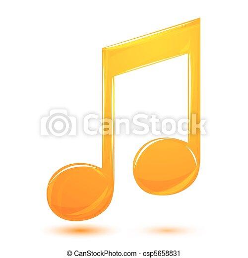 music text - csp5658831