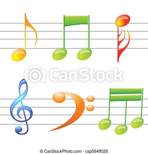music texts - csp5648028