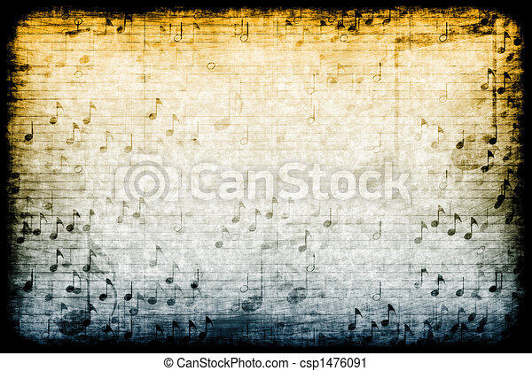 Music Themed Abstract Grunge Background - csp1476091