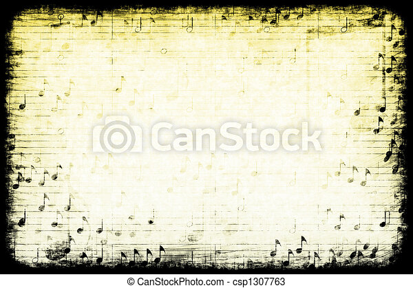 Music Themed Abstract Grunge Background - csp1307763