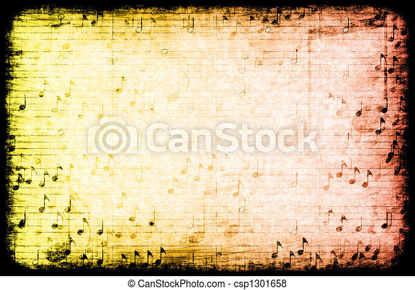 Music Themed Abstract Grunge Background - csp1301658