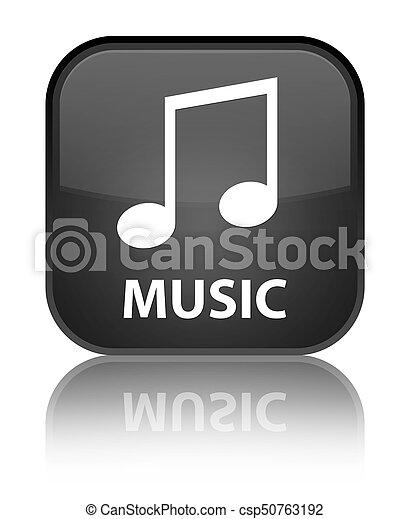 Music (tune icon) special black square button - csp50763192