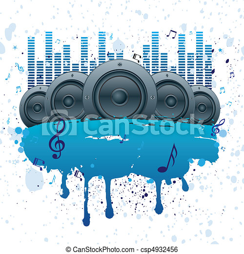 music vector background - csp4932456