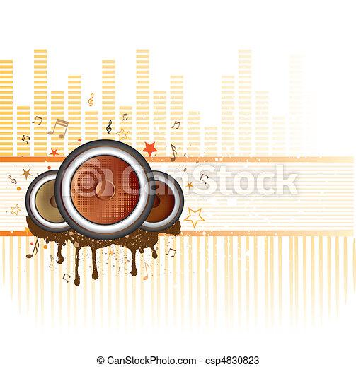 music vector background - csp4830823