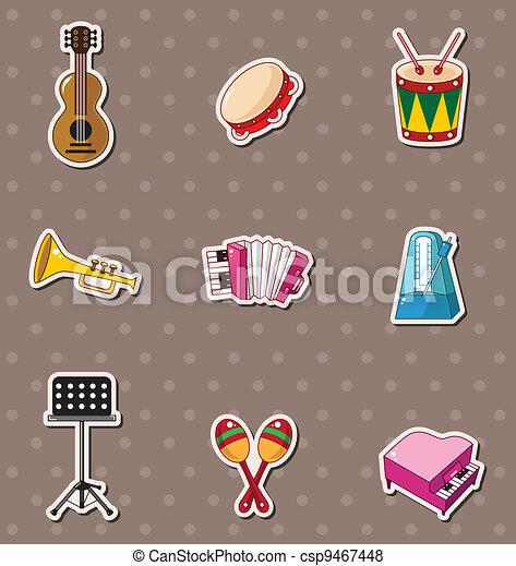 musica, adesivi - csp9467448