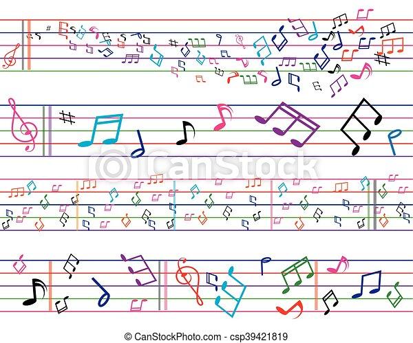 musica, colorito, fondo - csp39421819
