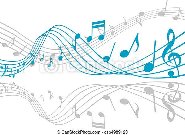 musica, fondo - csp4989123