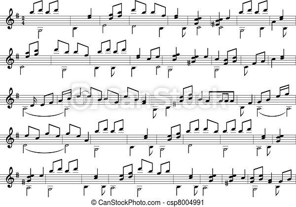 musica, note. - csp8004991