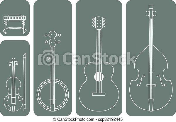 musica paese, strumenti - csp32192445