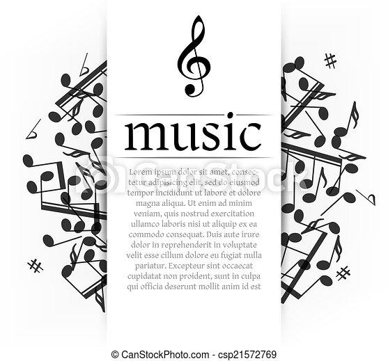 Musical background - csp21572769