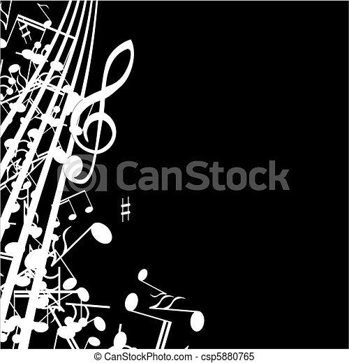 Musical  background - csp5880765