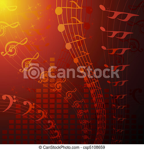musical background - csp5108659