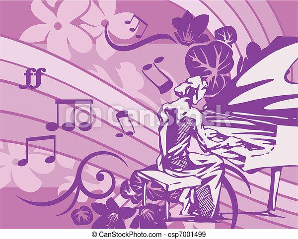 Musical Background - csp7001499