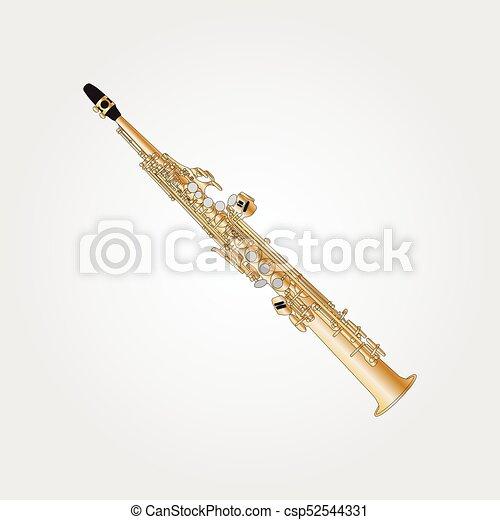 Musical background series. Classical aulochrome soprano sax. - csp52544331