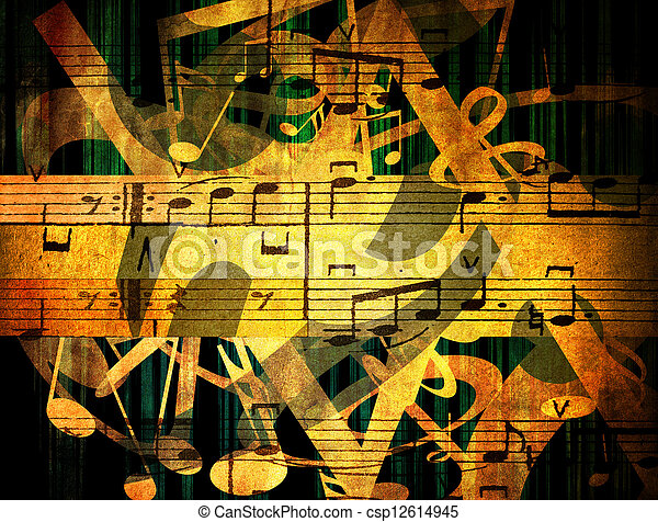 musical background - csp12614945