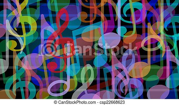 Musical background - csp22668623