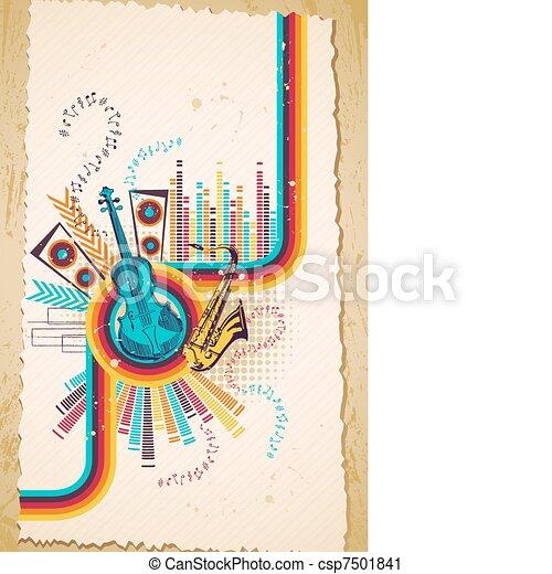 Musical Background - csp7501841