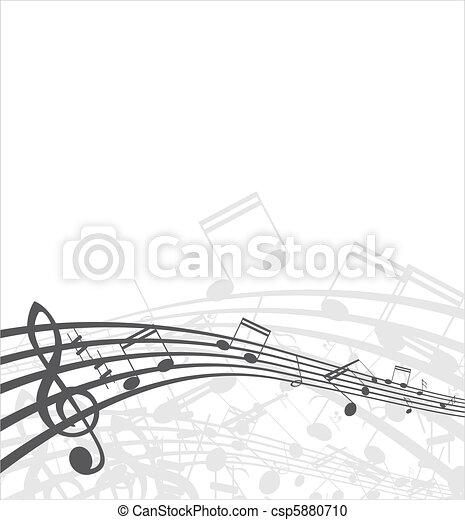 Musical  background - csp5880710