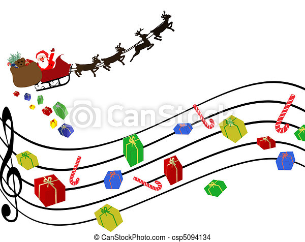 musical christmas background with gifts instead of musical eps rh canstockphoto com christmas border background clipart christmas holiday background clipart