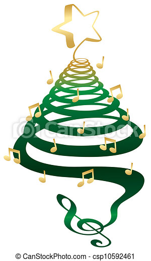 Musical Christmas tree - csp10592461