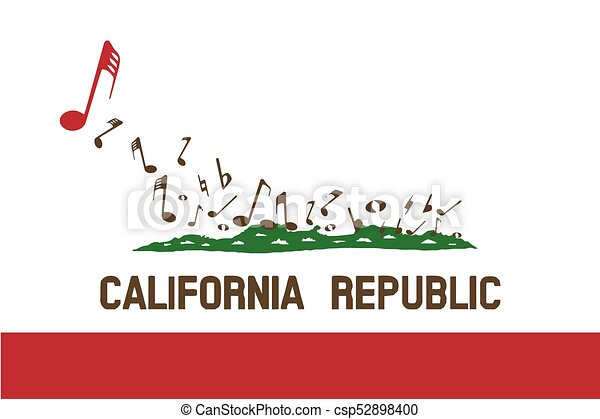 Musical Flag Of The State California