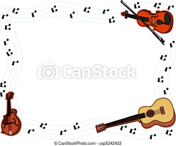 musical frame stock illustration - Music Picture Frame