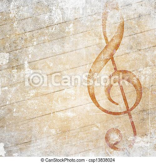 musical grunge background - csp13838024