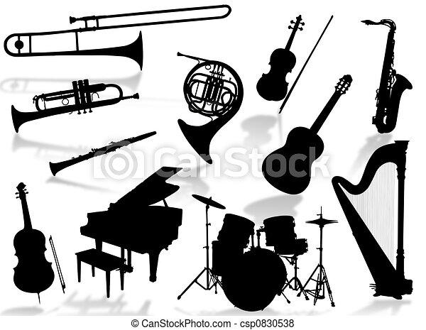 Musical instruments silho - csp0830538