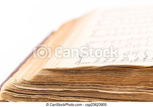 musical, livre, composition, ouvert - csp23623905