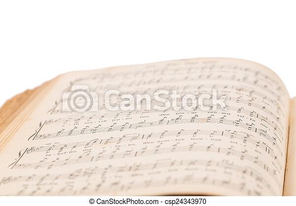 musical, livre, composition, ouvert - csp24343970