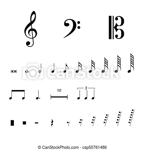 Musical Notation Symbols Vector Illustration Musical Notes And