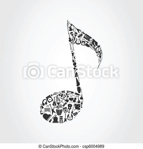 Musical note - csp6004989