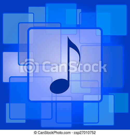 Musical note icon - csp27010752